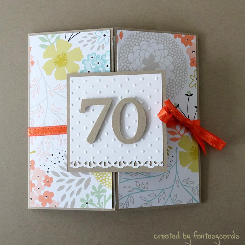 70. Geburtstagskarte