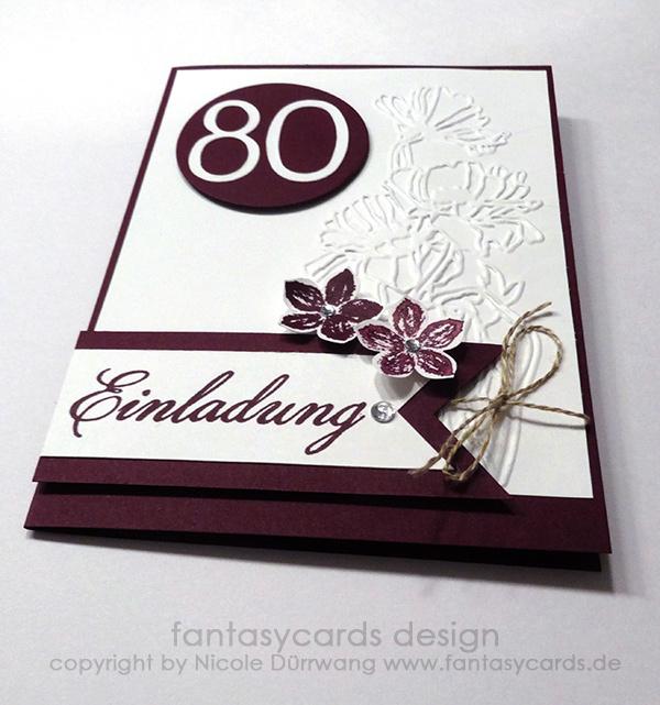 Einladung 80