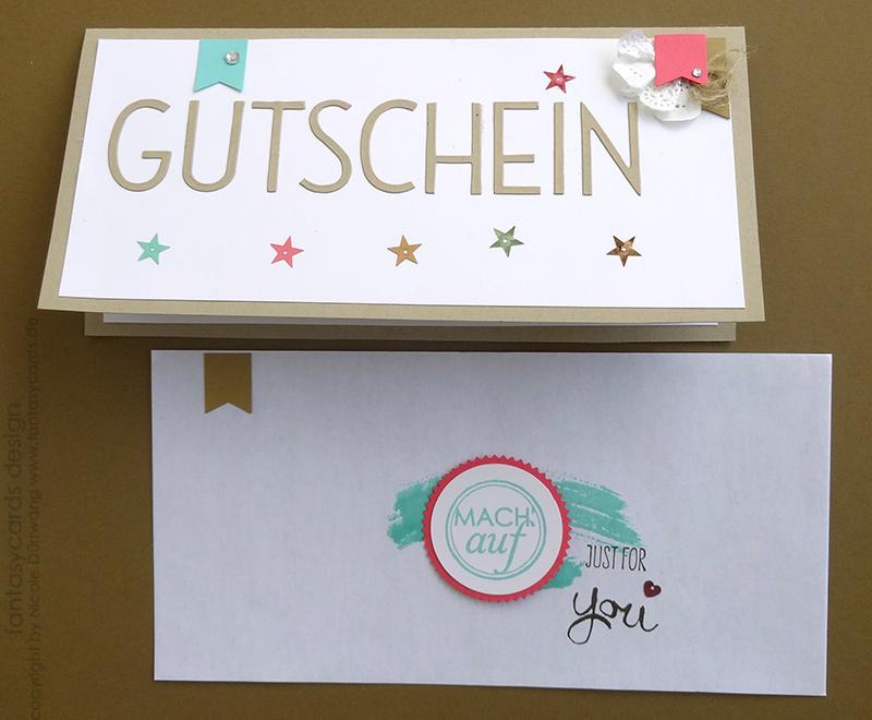 Gutschein mit Umschlag