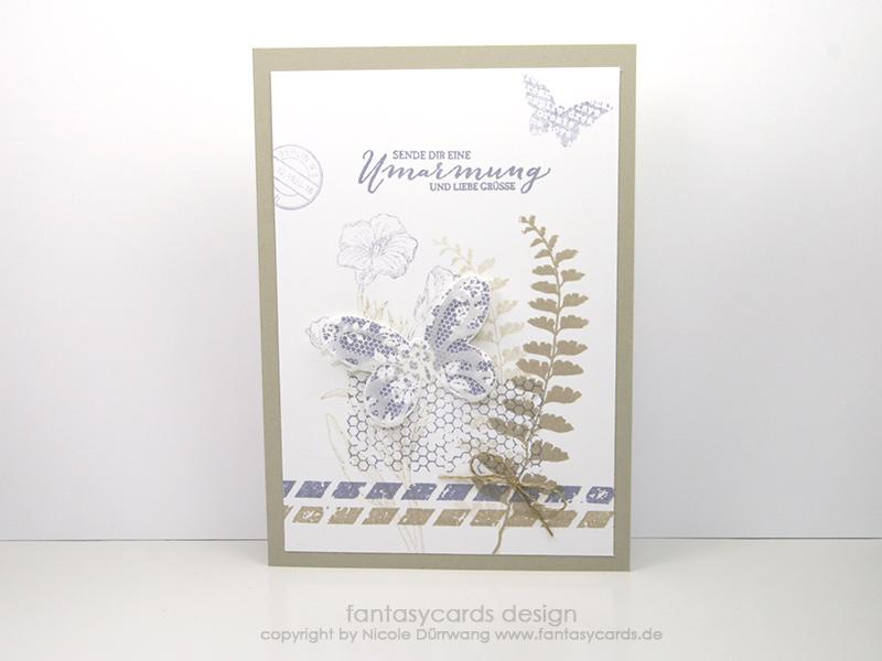 Schmetterlingskarte in Blauregen