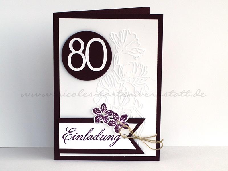 Einladung zum 80. Geburtstag