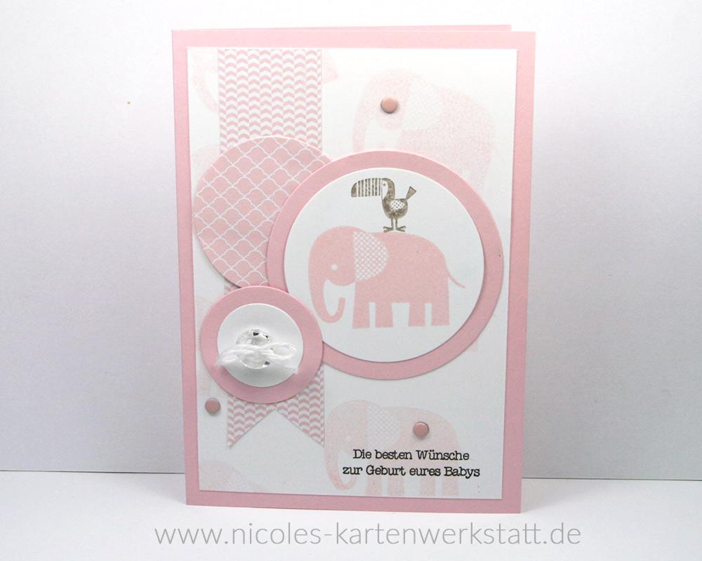 Babykarte Rosa