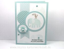 Babykarte blau