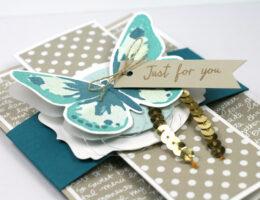 Schmetterlingkarte Nahaufnahme