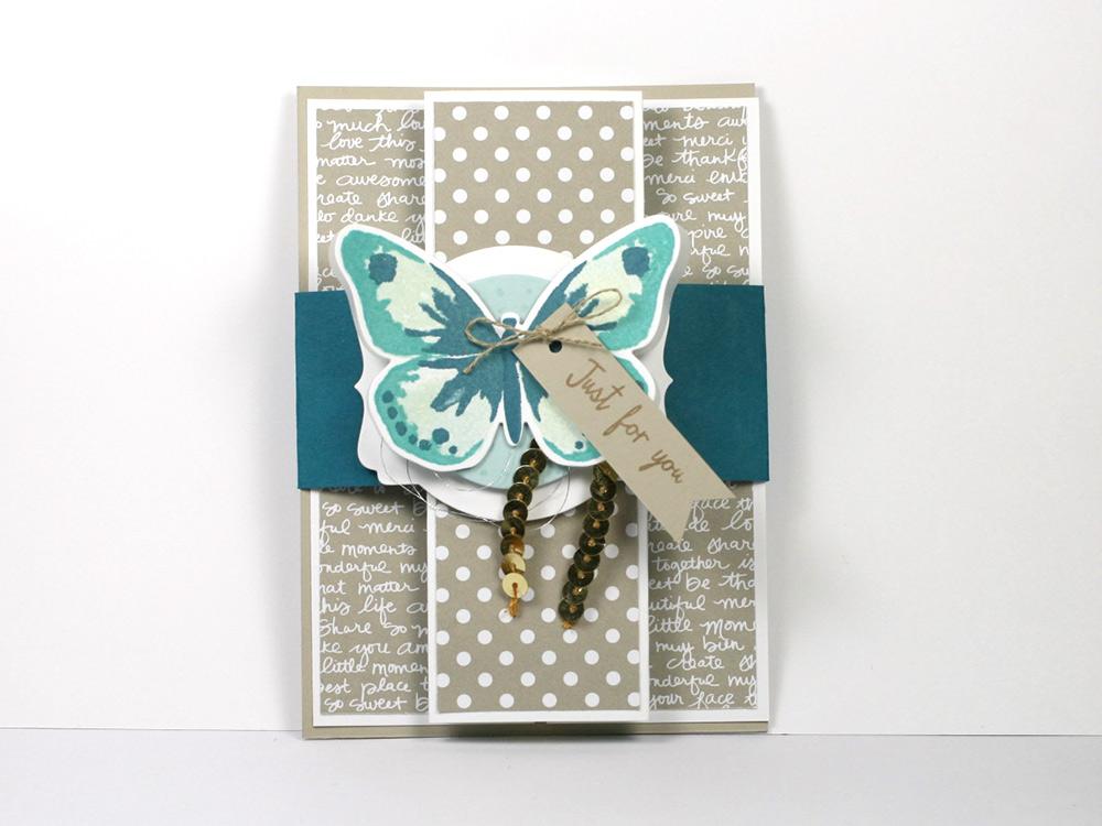 Schmetterlingskarte türkis