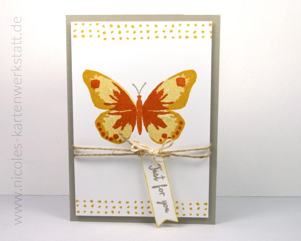 Schmetterlingskarte gelb