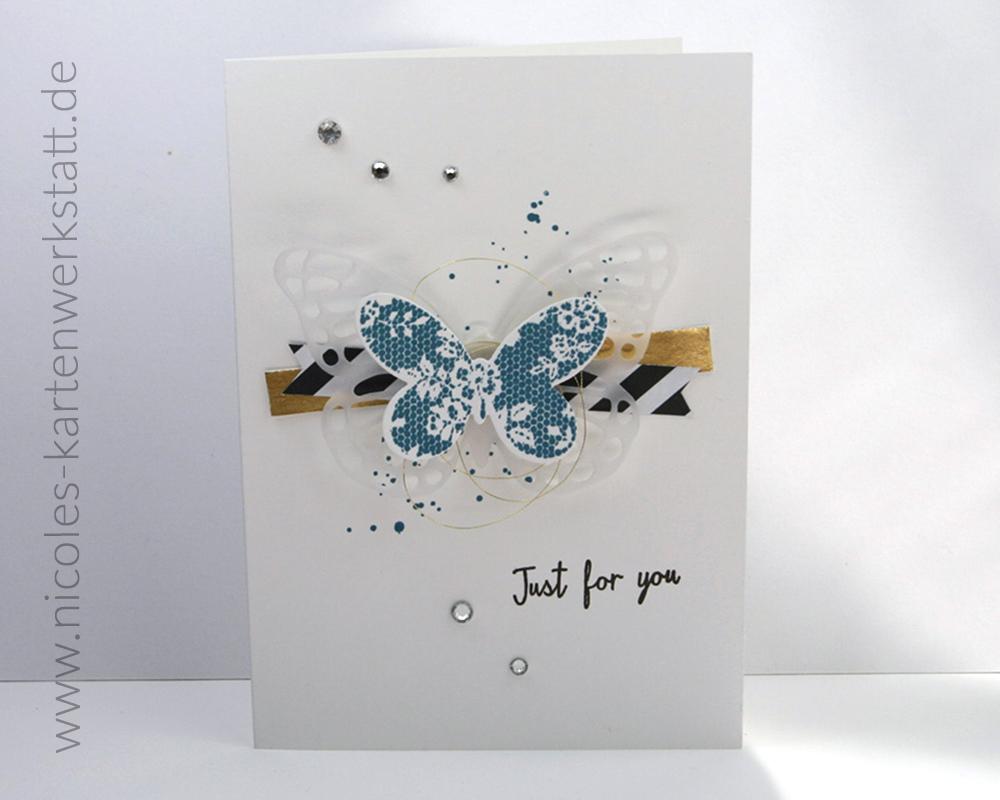 Schmetterlingkarte Petrol