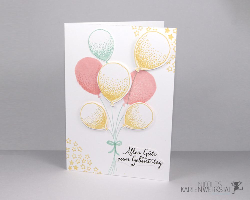 Luftballons Geburtstagskarte