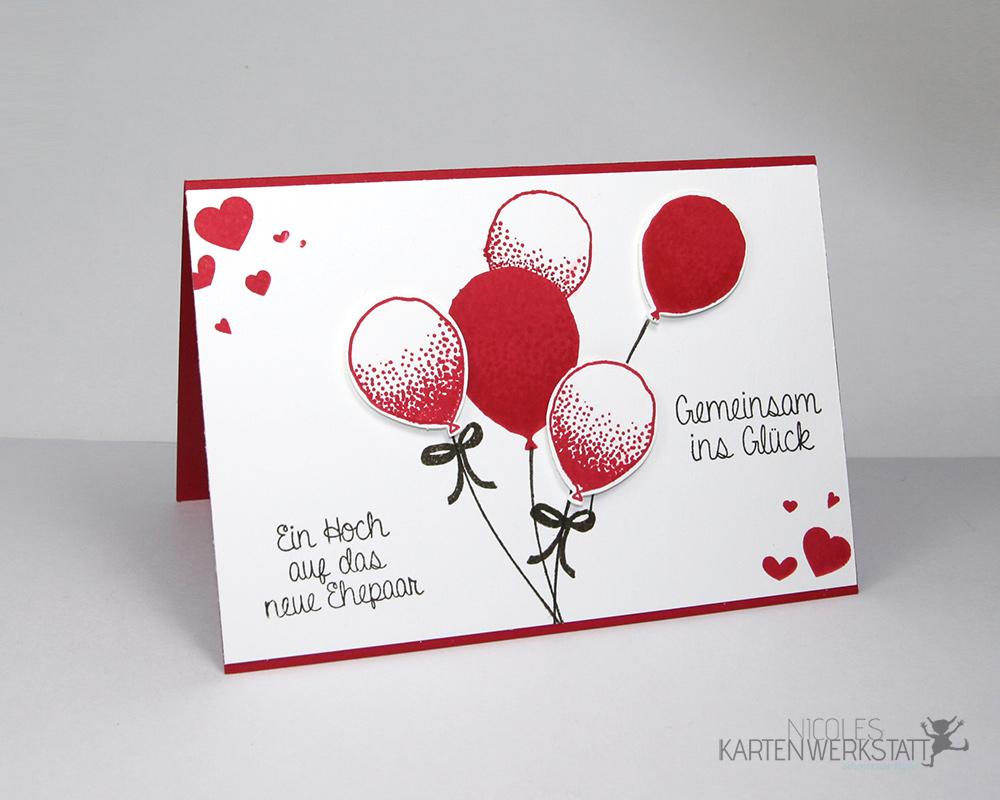 Hochzeitskarte Partyballons