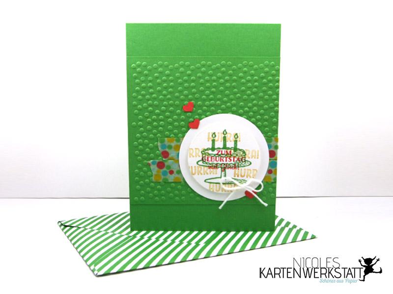 Geburtstagskarte Gartengrün