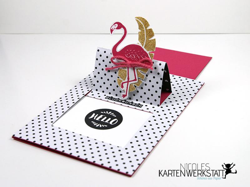 Ziehkarte Flamingo