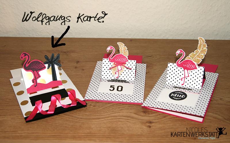 Flamingo-Ziehkarten