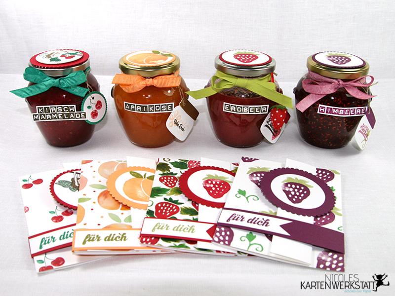 Fresh Fruit Marmeladengläser