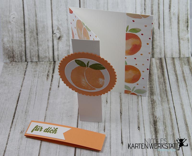 Z-Fold-Card Pfirsich