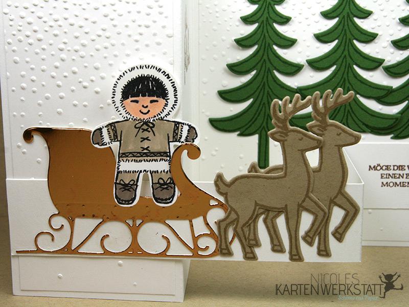 Weihnachtsschlitten Kupfer
