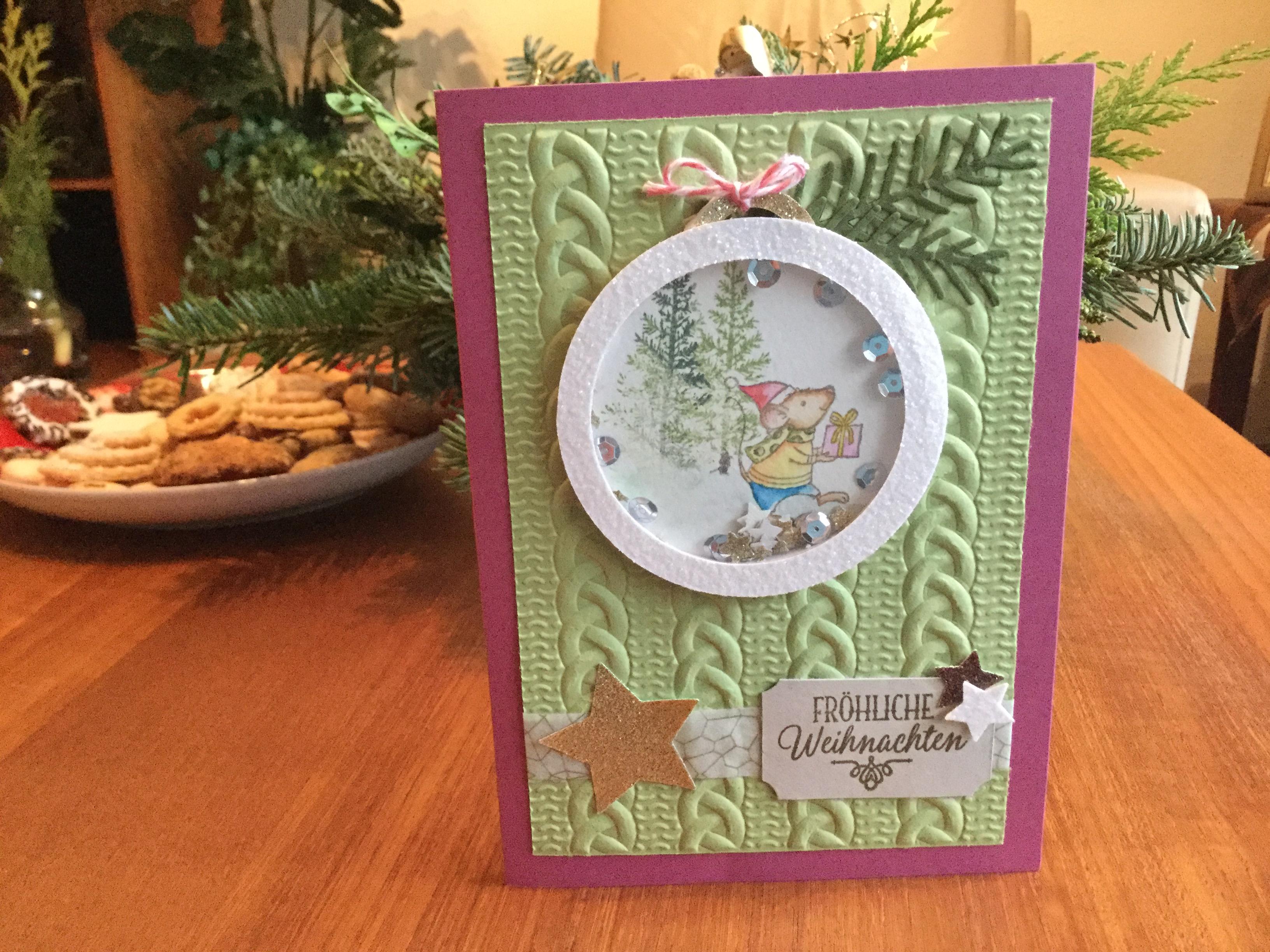 Weihnachtskarte Weihnachtsmäuse
