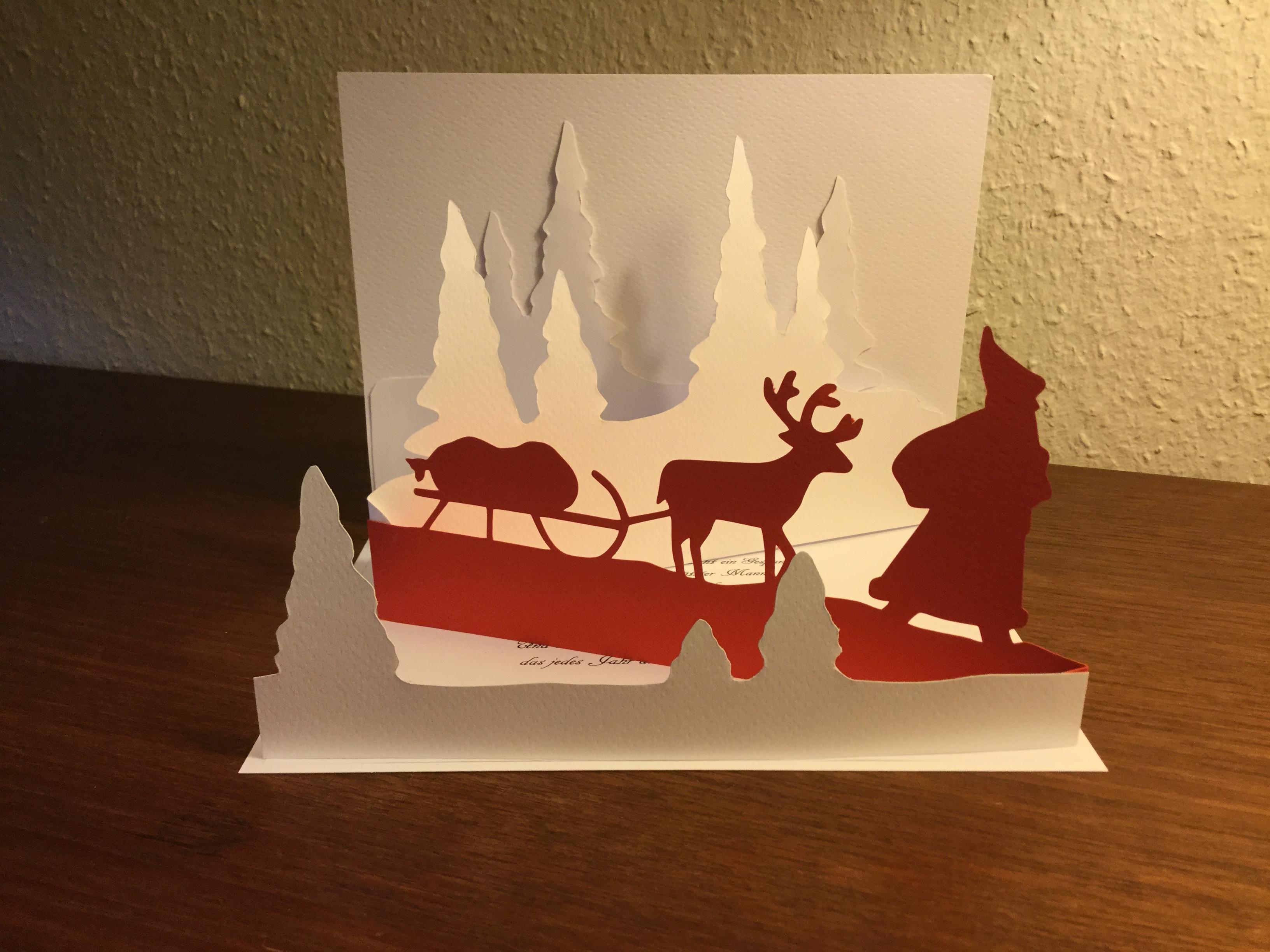 Weihnachts-Aufstell-Karte