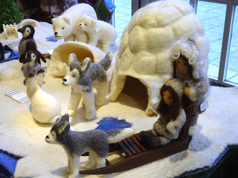 Eskimo-Filzfiguren