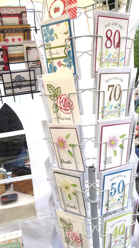 Handmademarkt im Grünen Kartenständer