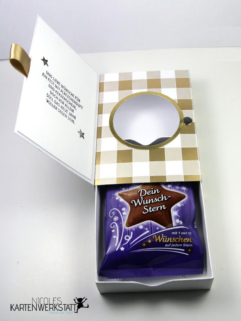 Weihnachtliche Verpackung Schokolade