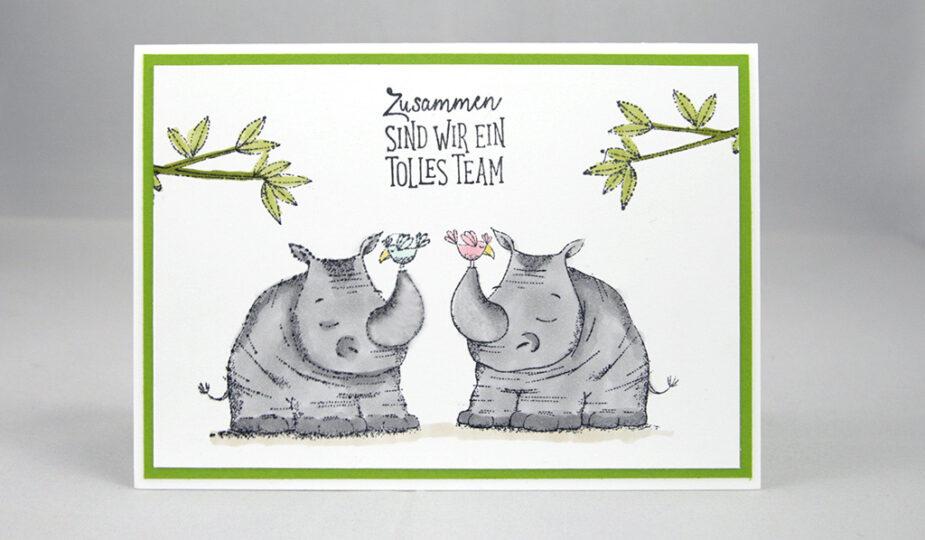 Wild auf Grüße Nashorn