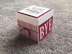 Explosionsbox zum Abschied