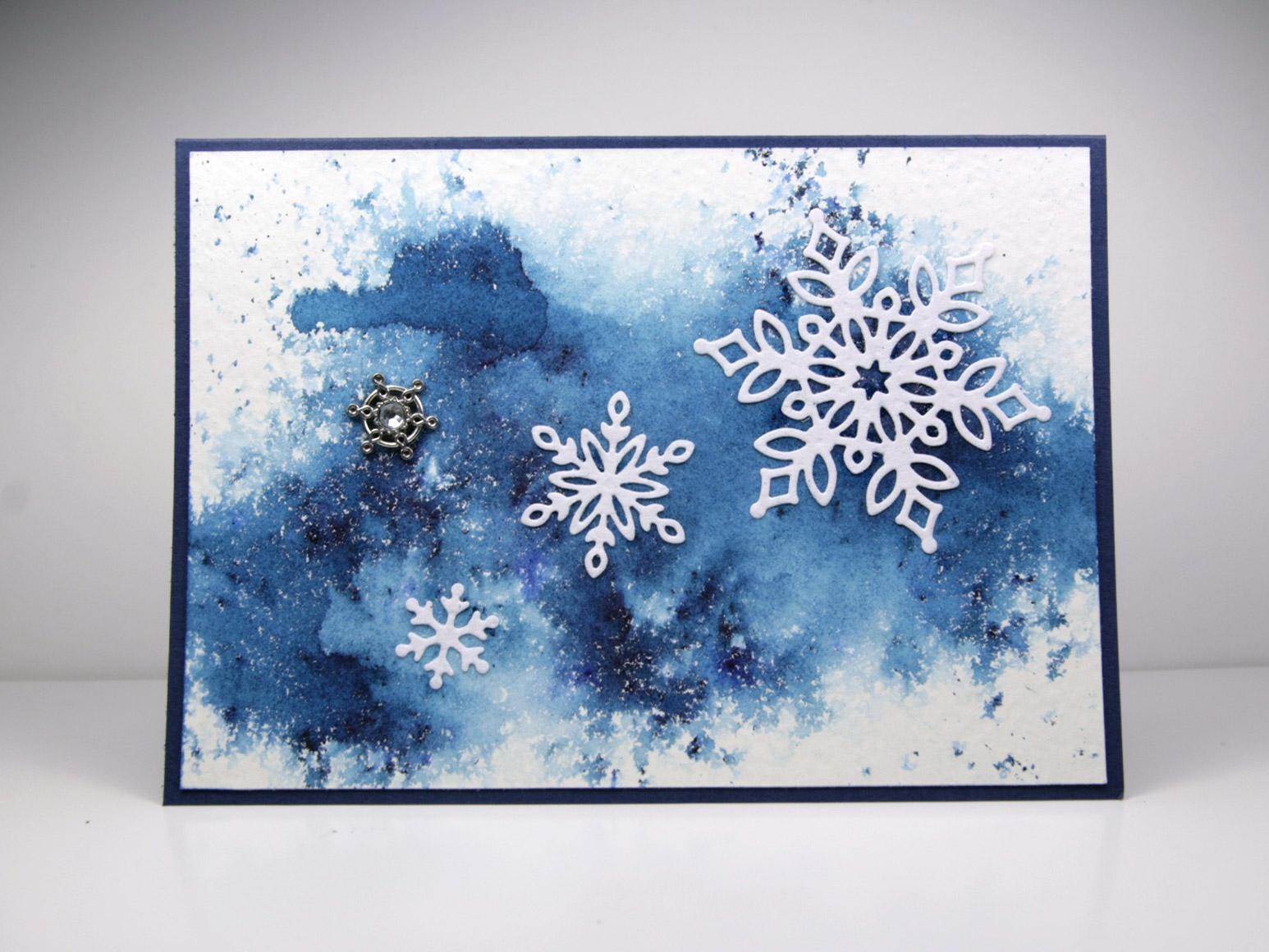 Karte Schneeflocken
