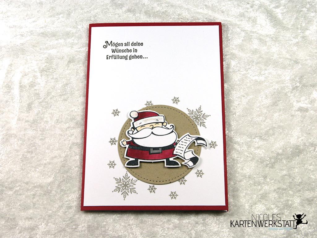 Karte mit Weihnachtsmann