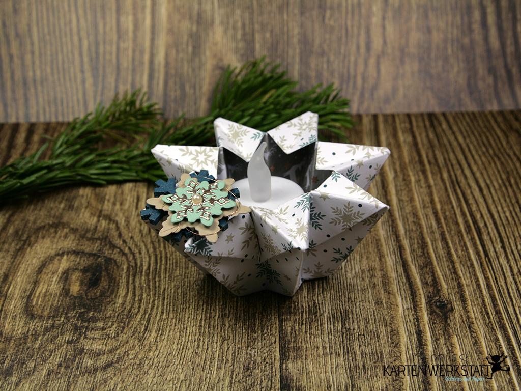 Teelicht-Stern Origami
