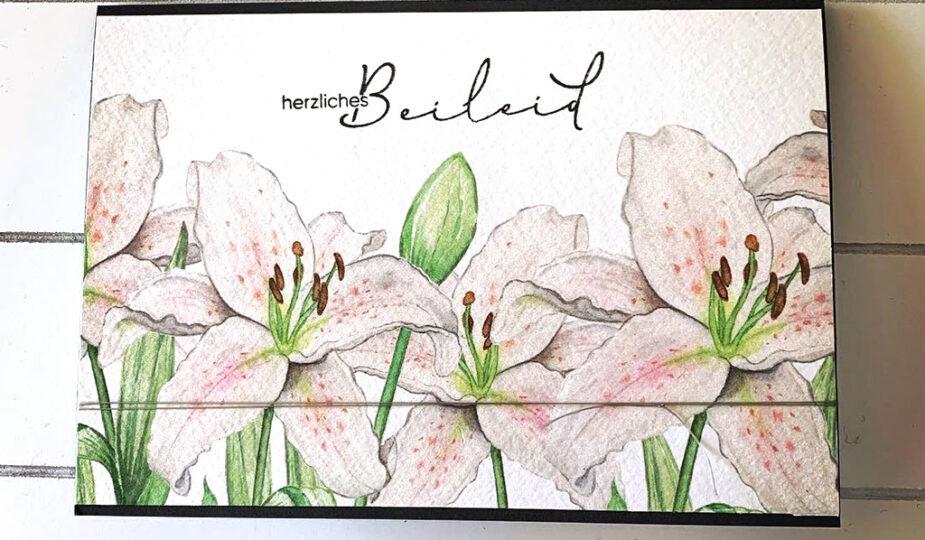 Beileidskarte Lilien