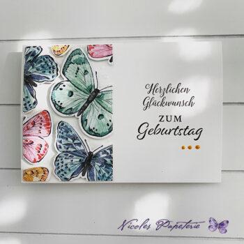 Schmetterlingskarte zum Geburtstag